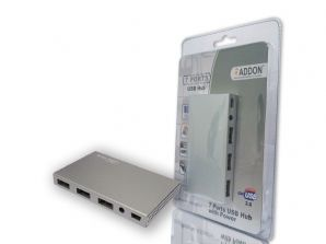 Addon ADDUH071P USB 2.0 Hub 7 Ports with Power Adapter